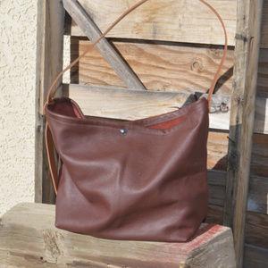 Brown Leather Handcrafted Shoulder Bag Zakken USA