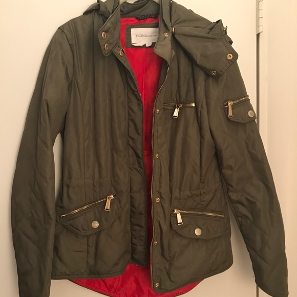 BCBGeneration Jackets & Blazers - BCBGeneration Quilted Olive Jacket- Small