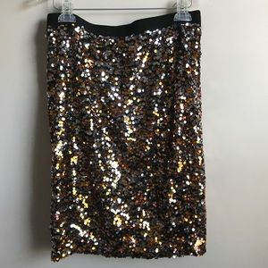 H&M Sequin Pencil Skirt