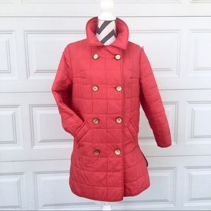 Vintage red quilted coat