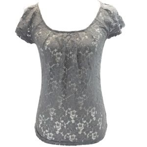 THE LIMITED LACE CAP SLEEVE ROUND NECK TOP BLOUSE