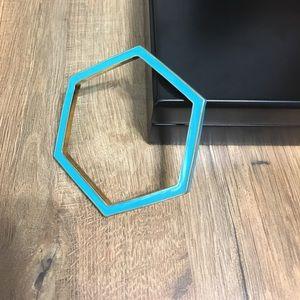 Kate Spade hexagon blue bracelet