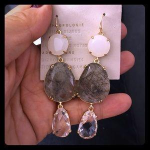 NWT anthro stone earrings