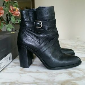 Vince Camuto Gravell Black Leather Boots