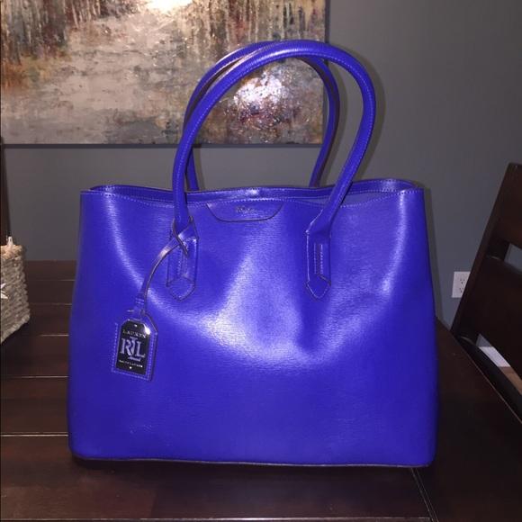 4ea172fda61 Lauren Ralph Lauren Bags   Dryden Marcy Blue Iris   Poshmark