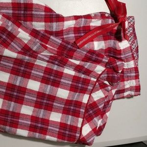 Faded Glory Red & White Plaid Holiday Pajama Pants