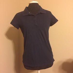 Navy Blue Collared Top