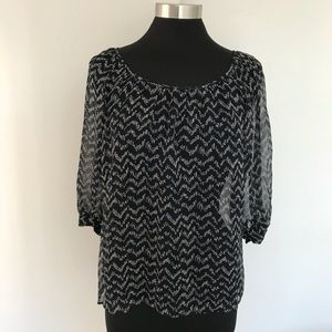 Joie Silk Sheer Blouse. Size Small.