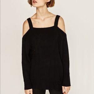 Zara sweater with cutout shoulders!