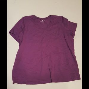 Woman within v neck tee
