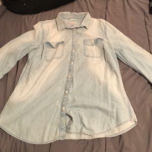Merona jean flannel