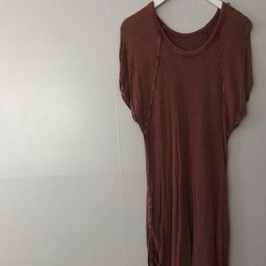 Free People Tunic Tshirt Dress with pockets Rust L