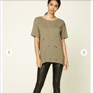 Forever 21 distressed t shirt!