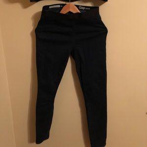 GAP Resolution pull on leggings dark denim jeans