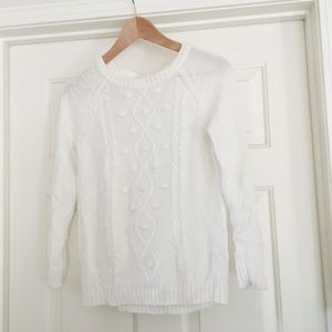 • h&m • white cable knit sweater