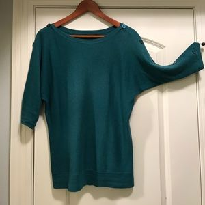 Green Batwing sweater by The Limited