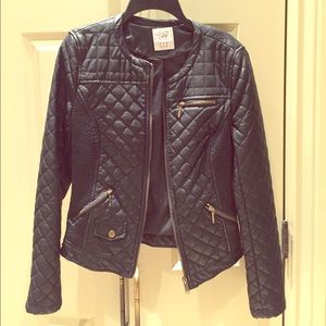 Zara Trafaluc Quilted Faux Leather Jacket