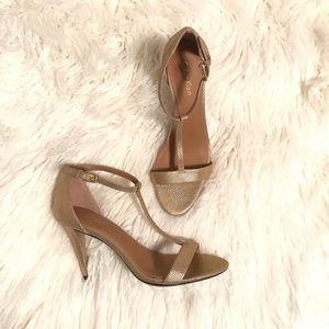 Calvin Klein gold heels