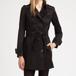 Burberry London Westland trench in black US 4 UK 6