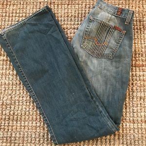 7FAM Jeans Vintage Flare Women's 27x32.5 Faded EUC