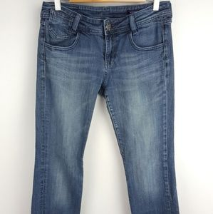 Vigoss Jeans Medium Wash Slim Bootcut Sz 7