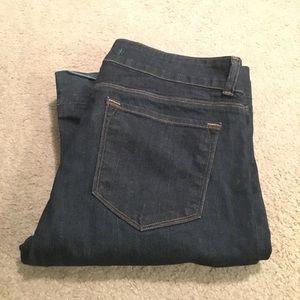 J Brand Blue Bell Bottom Jeans