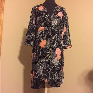 ASOS Floral Dress High Low Shirt
