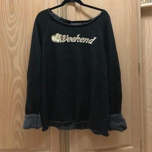 Wildfox Weekend Black Sweatshirt