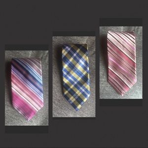 THREE Patterned Ties - DKNY / City of London / CCG