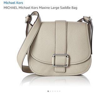 Authentic NWT Michael Kors large saddlebag.