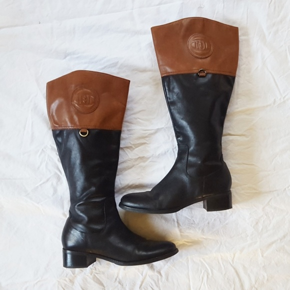 a5e65b63c92 BLACK FRIDAY SALE Two-tone leather Riding Boots