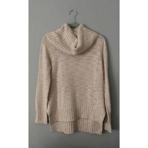 H&M Paris Cream Cowl Neck Sweater