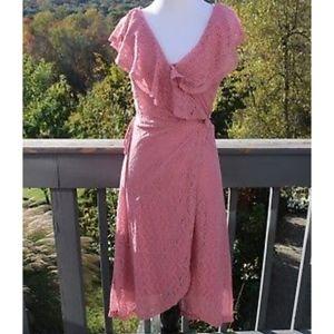 Charlotte Russe NWT Bonita Lace Pink Wrap Dress XS
