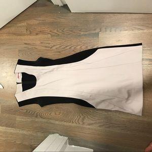 Diane Von Furstenburg black and grey dress