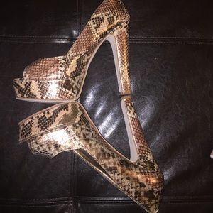 Steve Madden Faux Snakeskin Heels