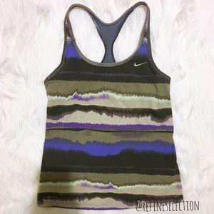 Nike Indy Tie Dye Racerback Workout Tank Top
