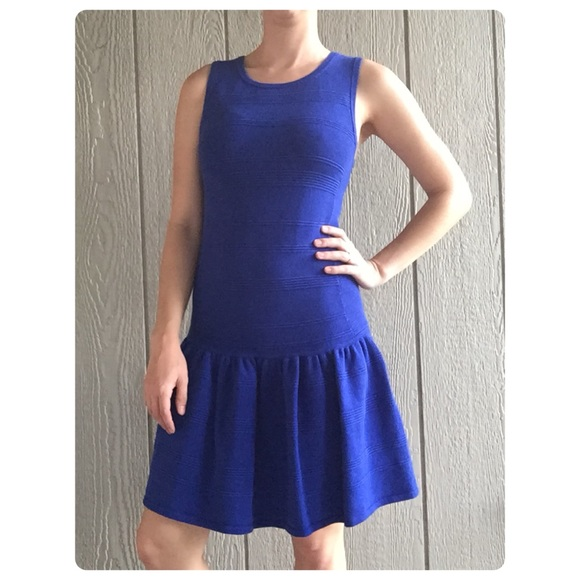 Juicy Couture Blue Sweater Dress cf9148004