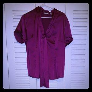Satiny blouse