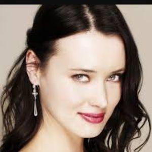 Jewelmint silver pearl flyer dangle earrings