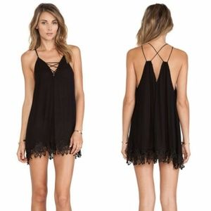 Free People Wicked Spell Tunic in Navy