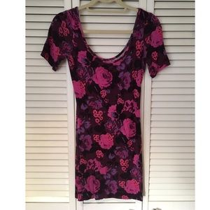 Free people floral fitted dress