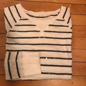 J.CREW | sparkle striped knit