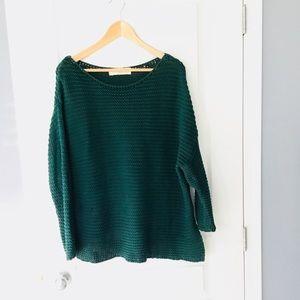 Zara oversized teal sweater