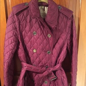Burberry quilted trench coat size US 10 GORGEOUS
