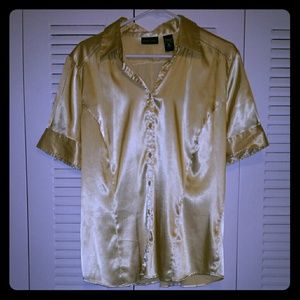 Shimmery Gold Blouse