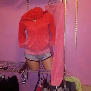 Juicy Couture Velour Ombre Set EUC M/L