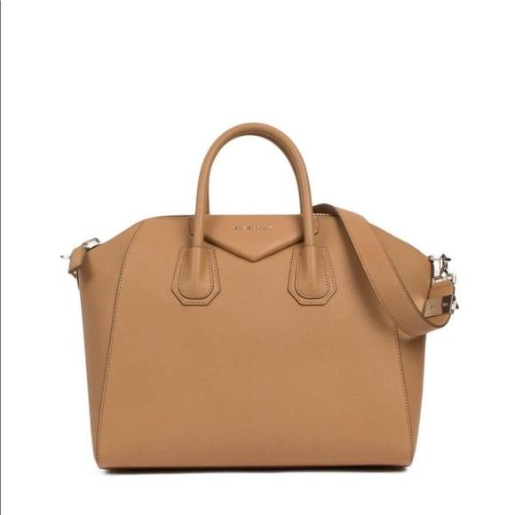 Givenchy Shoulder Bag for Women, Antigona, Light Beige, Leather, 2017, one size