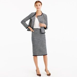 J. Crew Fringy Tweed Pencil Skirt