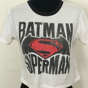'Batman Superman' crop top