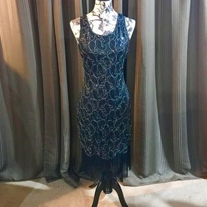 1920's Sequined Gastby Inspired Dress Flapper